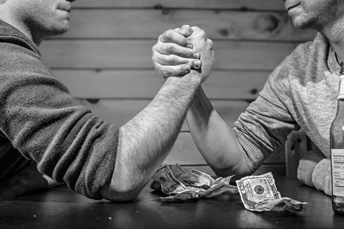 Arm wrestling for money